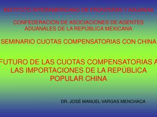 DR. JOSÉ MANUEL VARGAS MENCHACA