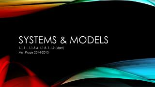 Systems & Models