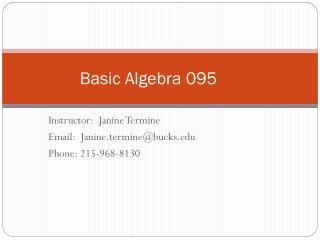 Basic Algebra 095