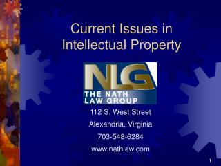 Current Issues in Intellectual Property