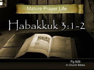 Habakkuk 3:1-2