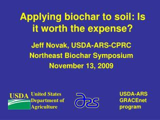 Applying biochar to soil: Is it worth the expense