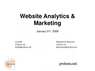 Website Analytics & Marketing