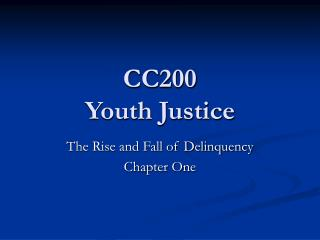 CC200 Youth Justice