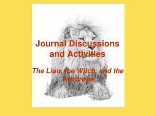 Journal Discussions and Activities