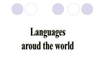 Languages  aroud the world
