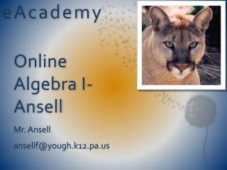 Online  Algebra I-  Ansell