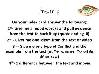 POE-TOTD
