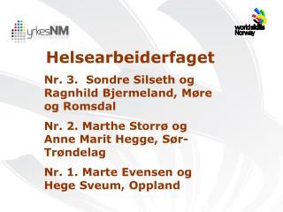 Helsearbeiderfaget Nr. 3.  Sondre Silseth og Ragnhild Bjermeland, M�re og Romsdal