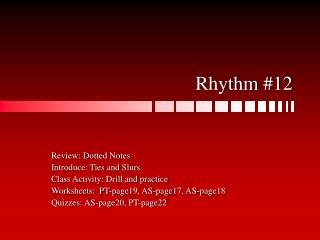 Rhythm #12