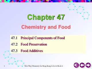 Chemistry and Food