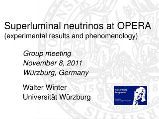 Superluminal neutrinos at OPERA (experimental results and phenomenology)