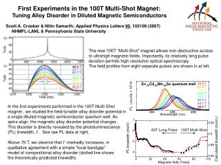 First Experiments in the 100T Multi-Shot Magnet: