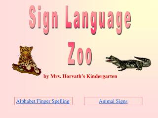Sign Language Zoo