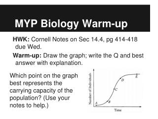 MYP Biology Warm-up