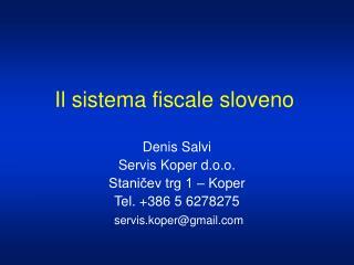 Il sistema fiscale sloveno