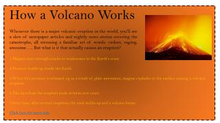 How a Volcano Works