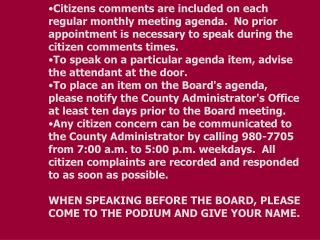 BOARD AGENDA     		     	 Regular Meeting PULASKI COUNTY	                	 Oct. 11, 2011