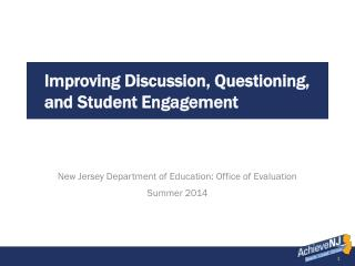 Improving Discussion, Questioning, and Student Engagement