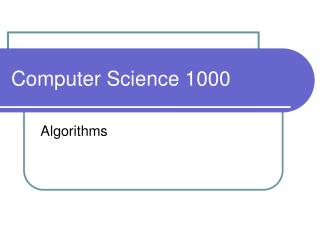 Computer Science 1000