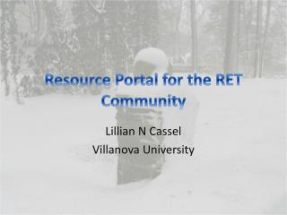 Resource Portal for the RET Community
