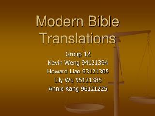 Modern Bible Translations