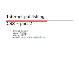 Internet publi shing CSS  – part 2