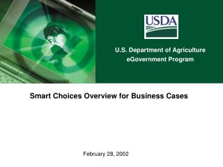 Smart Choices Overview for Business Cases
