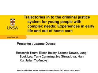 Presenter : Leanne Dowse
