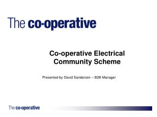 Co-operative Electrical Community Scheme