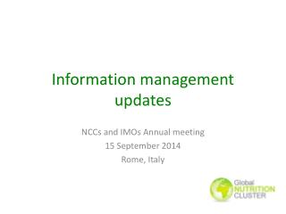 Information management updates