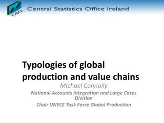 Typologies of global production and value chains