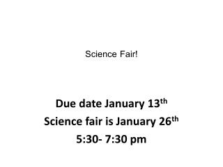 Science Fair!
