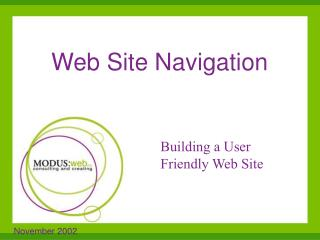 Web Site Navigation