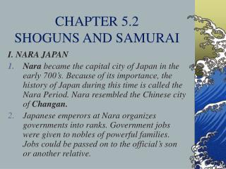 CHAPTER 5.2  SHOGUNS AND SAMURAI