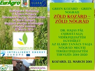Z�ld energia kezdem�nyez�sek Green energy initiatives