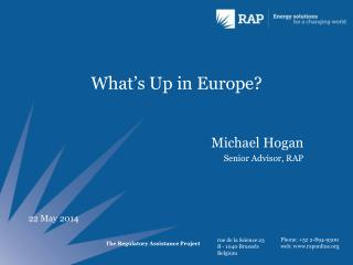 What's Up in Europe?