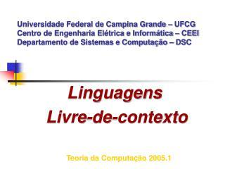 Linguagens  Livre-de-contexto