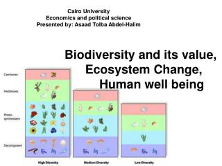 Biodiversity and its value,  	Ecosystem Change, 		Human well being