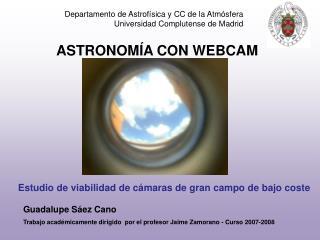 ASTRONOMÍA CON WEBCAM