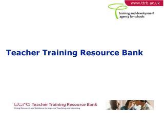 Teacher Training Resource Bank