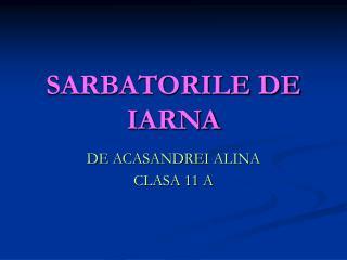 SARBATORILE DE IARNA