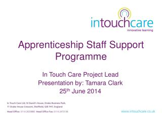 Apprenticeship Staff Support Programme