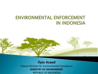 ENVIRONMENTAL ENFORCEMENT  IN INDONESIA
