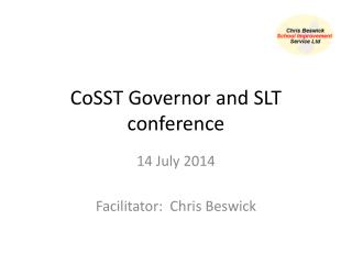 CoSST Governor and SLT conference