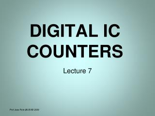 DIGITAL IC COUNTERS