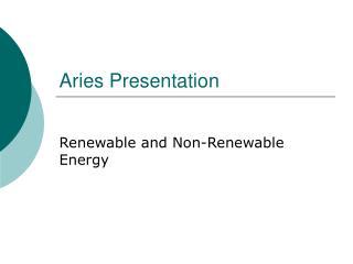 Aries Presentation