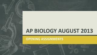 AP BIOLOGY  AUGUST 2013