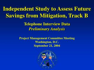 Project Management Committee Meeting Washington, D.C. September 21, 2004