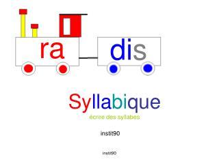 Syllabique  crire des syllabes